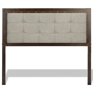 Fashion Bed Group Upholstered Headboards and Beds Queen Metal and Fabric Headboard