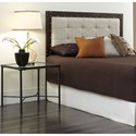 Morris Home Furnishings Upholstered Headboards and Beds Queen Metal and Fabric Headboard