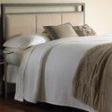 Morris Home Furnishings Upholstered Headboards and Beds King Transitional Metal and Fabric Headboard