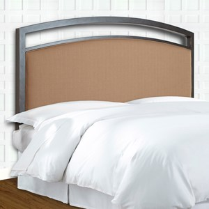 Morris Home Furnishings Upholstered Headboards and Beds Cal King Metal and Fabric Headboard