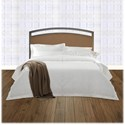 Fashion Bed Group Upholstered Headboards and Beds Cal King Transitional Metal and Fabric Headboard