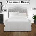 Morris Home Furnishings Upholstered Headboards and Beds Full/Queen Martinique Headboard with Tufting