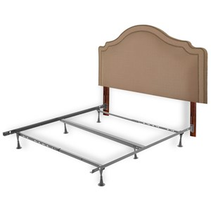 Morris Home Furnishings Upholstered Headboards and Beds Full/Queen Wood and Fabric and Steel Headboa