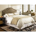 Morris Home Furnishings Upholstered Headboards and Beds Twin Transitional Wood and Fabric and Steel Headboard & Frame