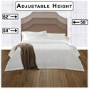 Morris Home Furnishings Upholstered Headboards and Beds Twin Wood and Fabric and Steel Headboard & Frame