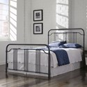 Fashion Bed Group Wellesly Wellesly Full Bed with Metal Spindled Grills and Rounded Corners