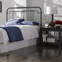 Fashion Bed Group Wellesly Wellesly Full Metal Headboard with Straight Top Rail and Rounded Corners