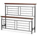 Fashion Bed Group Wood and Metal Beds King Fontane Headboard and Footboard - Item Number: B10976