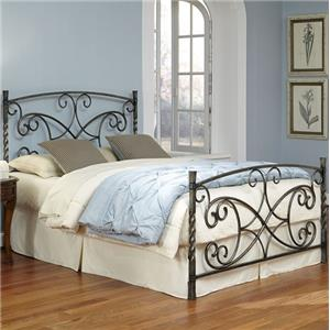 Fashion Bed Group Wood and Metal Beds Queen Charisma Bed without Frame