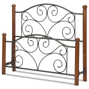 Fashion Bed Group Wood and Metal Beds Queen Doral Headboard and Footboard