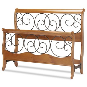 Fashion Bed Group Wood and Metal Beds Queen Dunhill I Headboard and Footboard