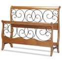 Fashion Bed Group Wood and Metal Beds Cal King Headboard and Footboard - Item Number: B90D07