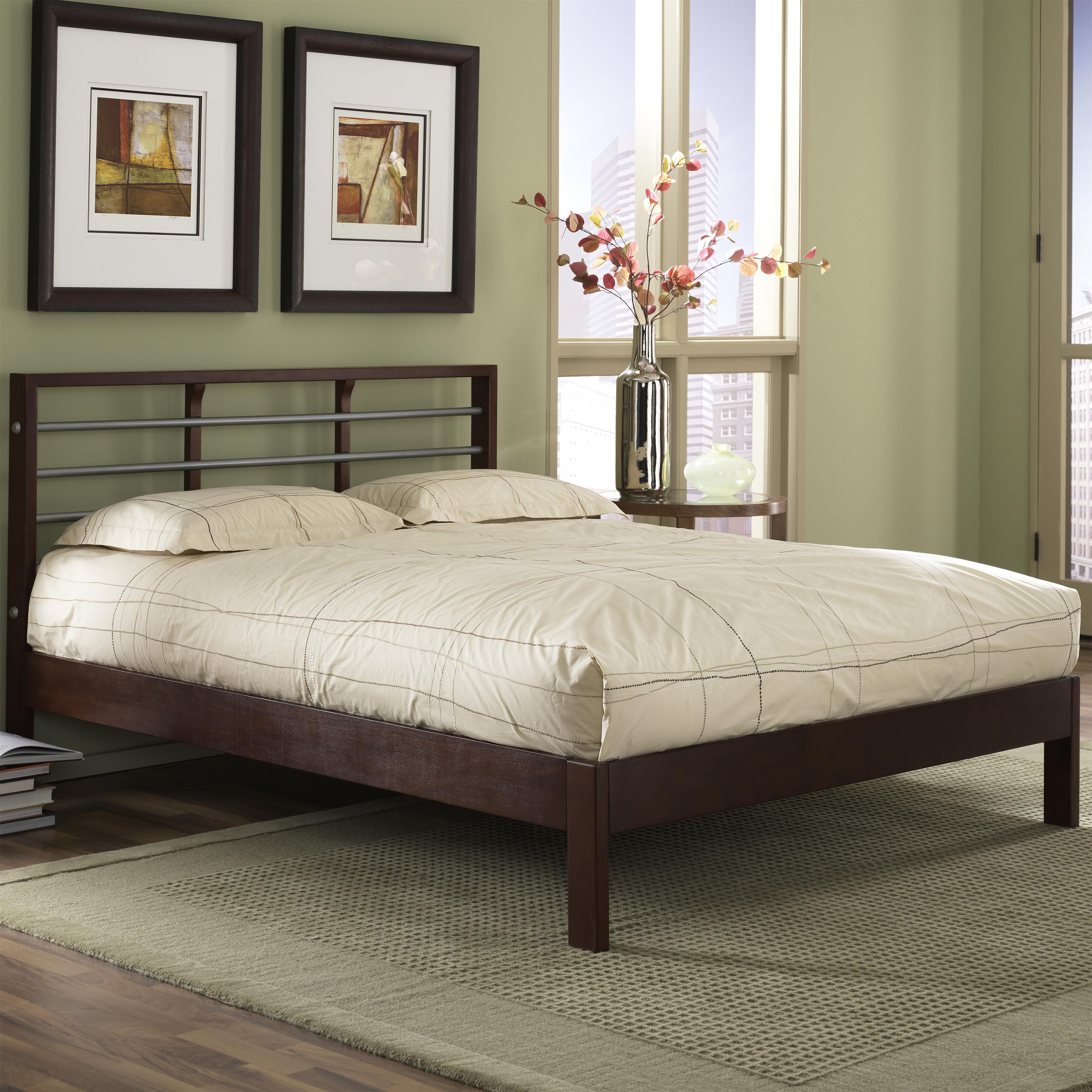 Fashion Bed Group Wood And Metal Beds King Delmar Bed W/ Side Rails   AHFA    Platform Or Low Profile Bed Dealer Locator