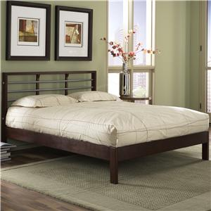 Fashion Bed Group Wood and Metal Beds Queen Delmar Bed w/ Side Rails