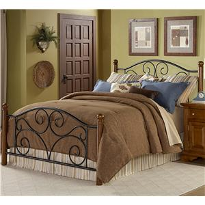 Wood and Metal Beds Queen Doral Bed w/ Frame by Fashion Bed Group