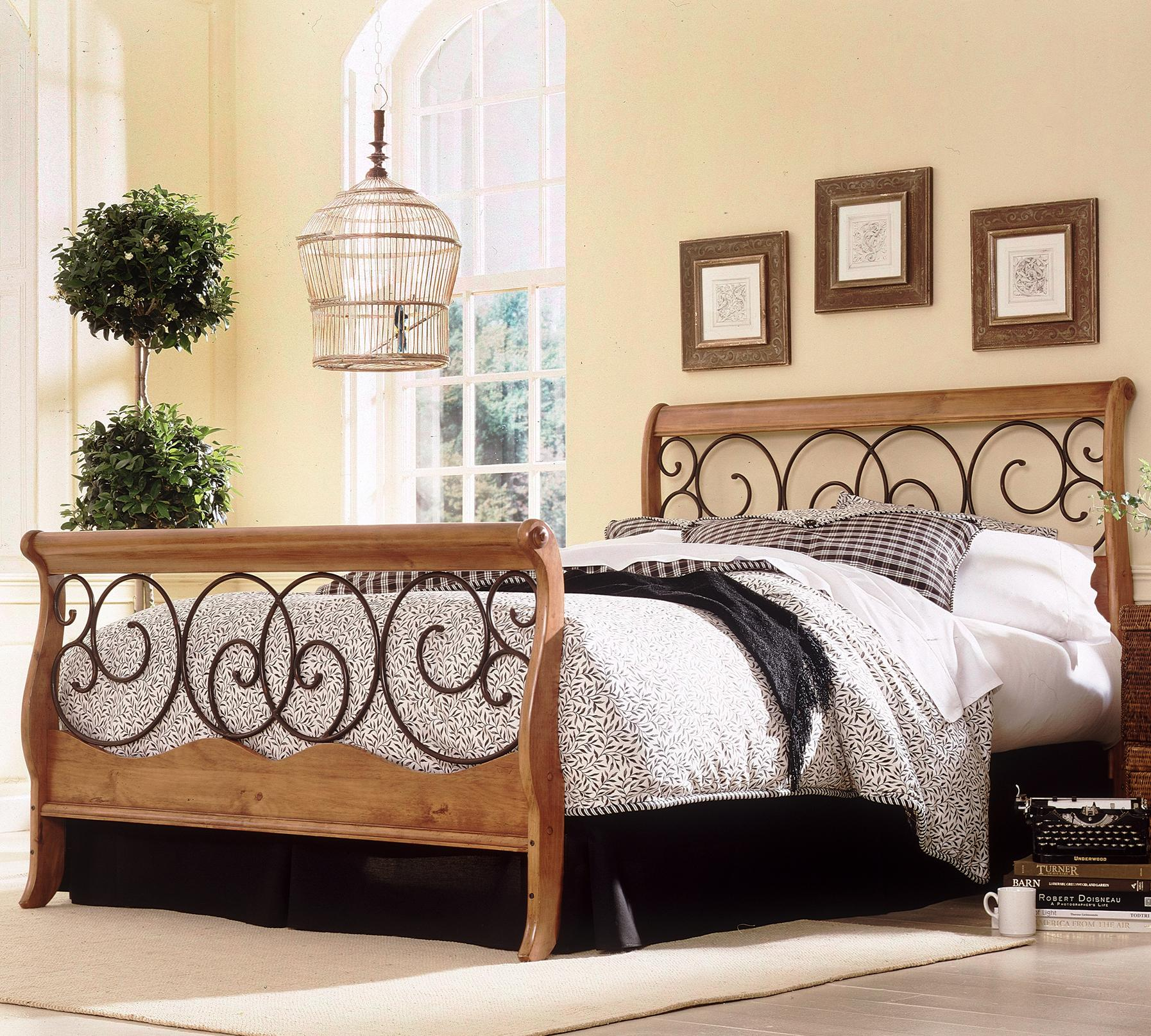 fashion bed group wood and metal beds california king dunhill i bed