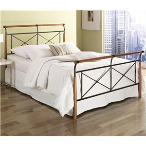 Fashion Bed Group Wood and Metal Beds Queen Kendall Bed w/ Frame
