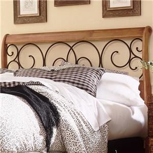 Morris Home Furnishings Wood and Metal Beds Queen Dunhill I Headboard
