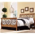 Fashion Bed Group Wood and Metal Beds Full Dunhill I Headboard - Headboard Shown in Bed Setting