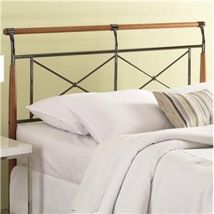 Fashion Bed Group Wood and Metal Beds Queen Kendall Headboard