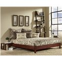 Morris Home Furnishings Wood Beds Full Murray Bed with Sidetable  - Item Number: B51084+B5008N