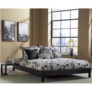 Morris Home Furnishings Wood Beds Queen Murray Bed with Sidetable