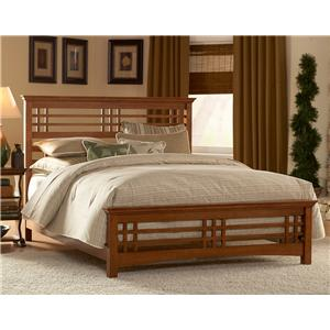 Fashion Bed Group Wood Beds Full Avery Bed w/ Wood Side Rails