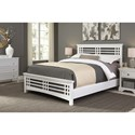 Fashion Bed Group Wood Beds Queen Avery Wood Bed - Item Number: B51A95-White