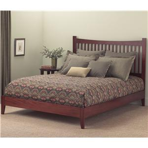 Morris Home Furnishings Wood Beds Queen Jakarta Platform Bed