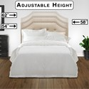 Fashion Bed Group Wood Beds Full/Queen Avignon Transitional Wood Headboard