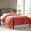 Fashion Bed Group Wood Beds King Dayton Headboard and Footboard with Metal Panels and Flat Wooden Posts