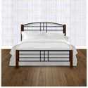 Fashion Bed Group Wood Beds Twin Dayton Wood and Metal Ornamental Bed