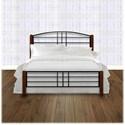 Morris Home Furnishings Wood Beds Twin Dayton Wood and Metal Ornamental Bed