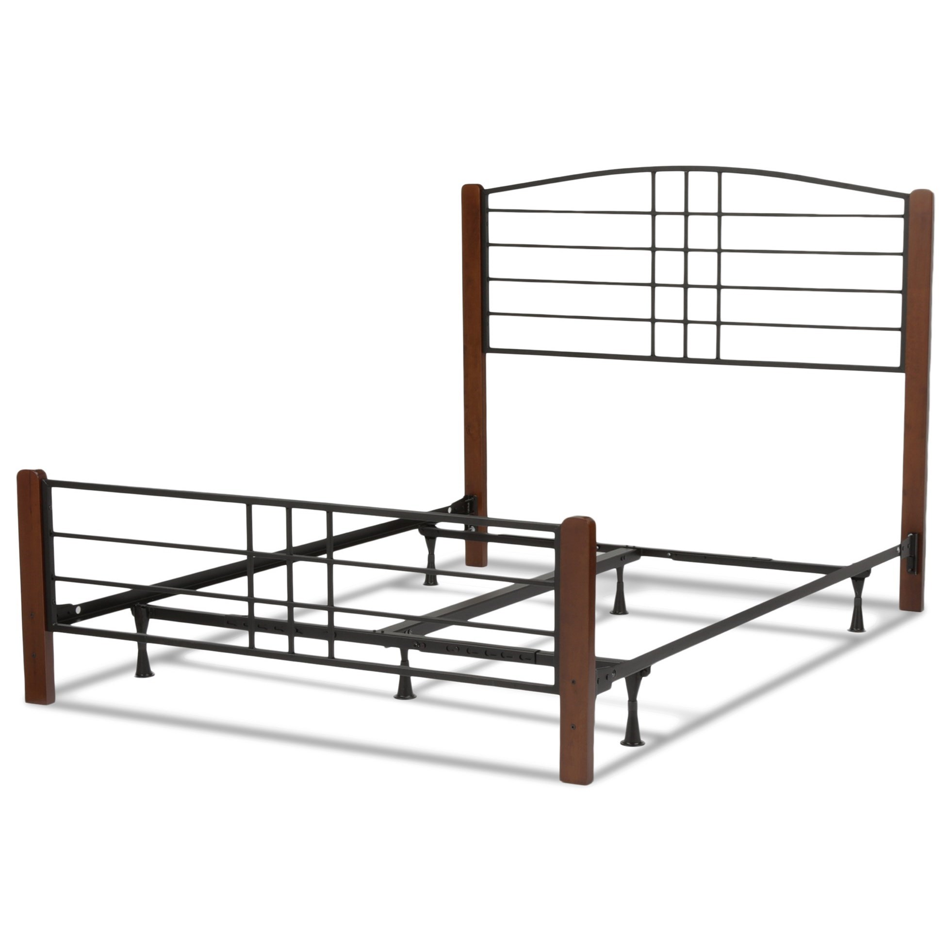 Fashion Bed Group Wood Beds Full Wood and Metal Ornamental Bed - Item Number: B91854