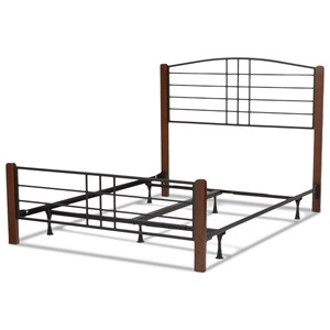 Fashion Bed Group Wood Beds Queen Wood and Metal Ornamental Bed