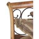 Morris Home Furnishings Wood Beds Cal King Wood and Metal Headboard