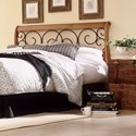 Fashion Bed Group Wood Beds Cal King Dunhill I Wood and Metal Headboard