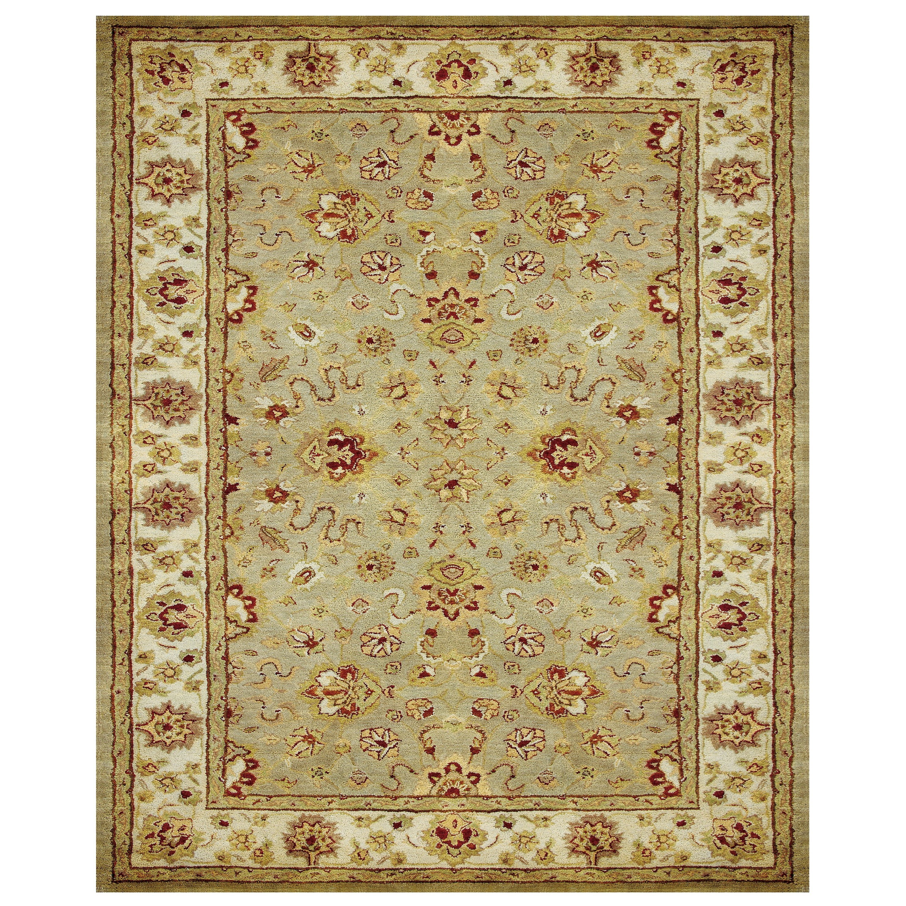 "Alexandra Sage/Ivory 9'-3"" x 13' Area Rug by Feizy Rugs at Sprintz Furniture"