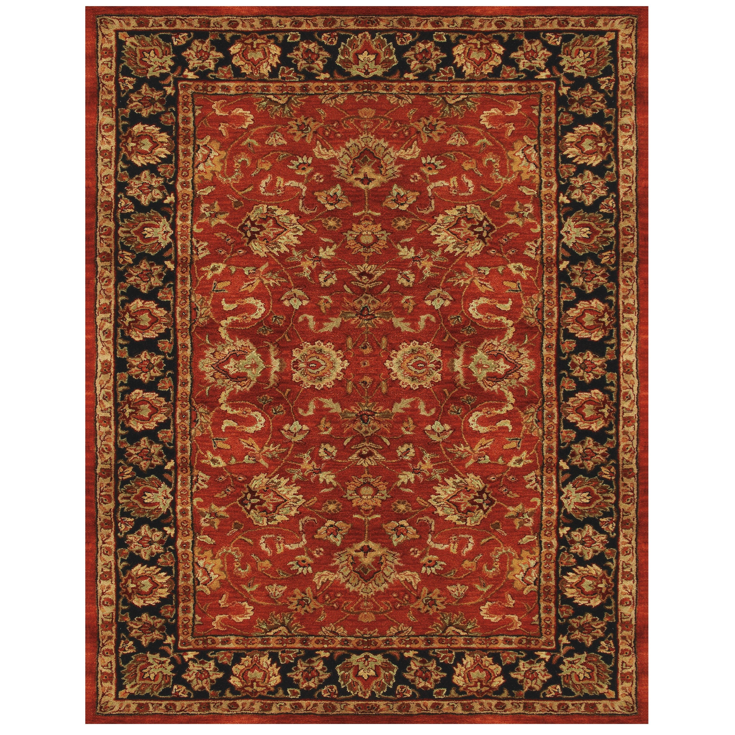 "Red/Navy 3'-6"" x 5'-6"" Area Rug"