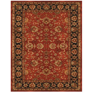 """Red/Navy 3'-6"""" x 5'-6"""" Area Rug"""