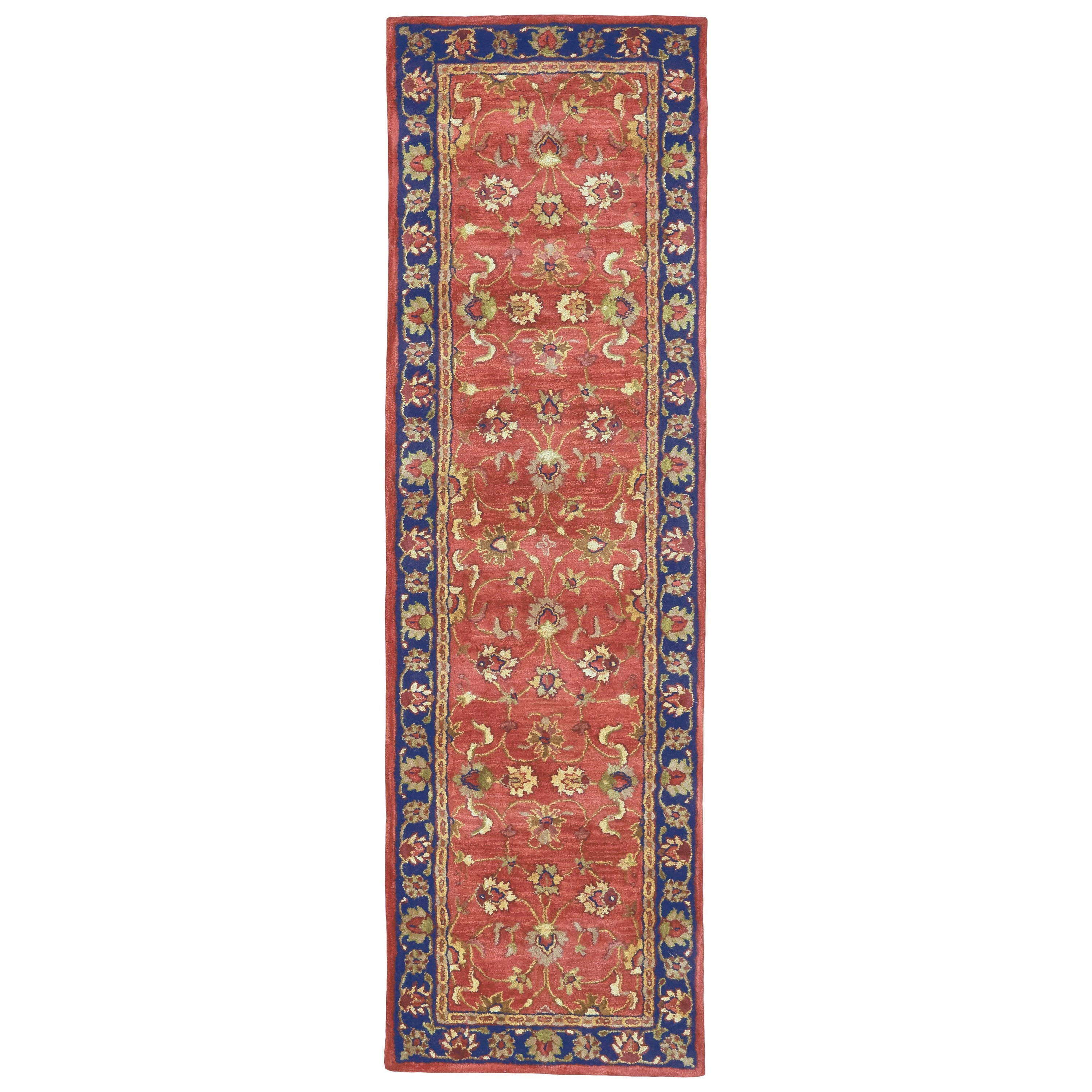 "Alexandra Red/Navy 2'-3"" x 8' Runner Rug by Feizy Rugs at Sprintz Furniture"