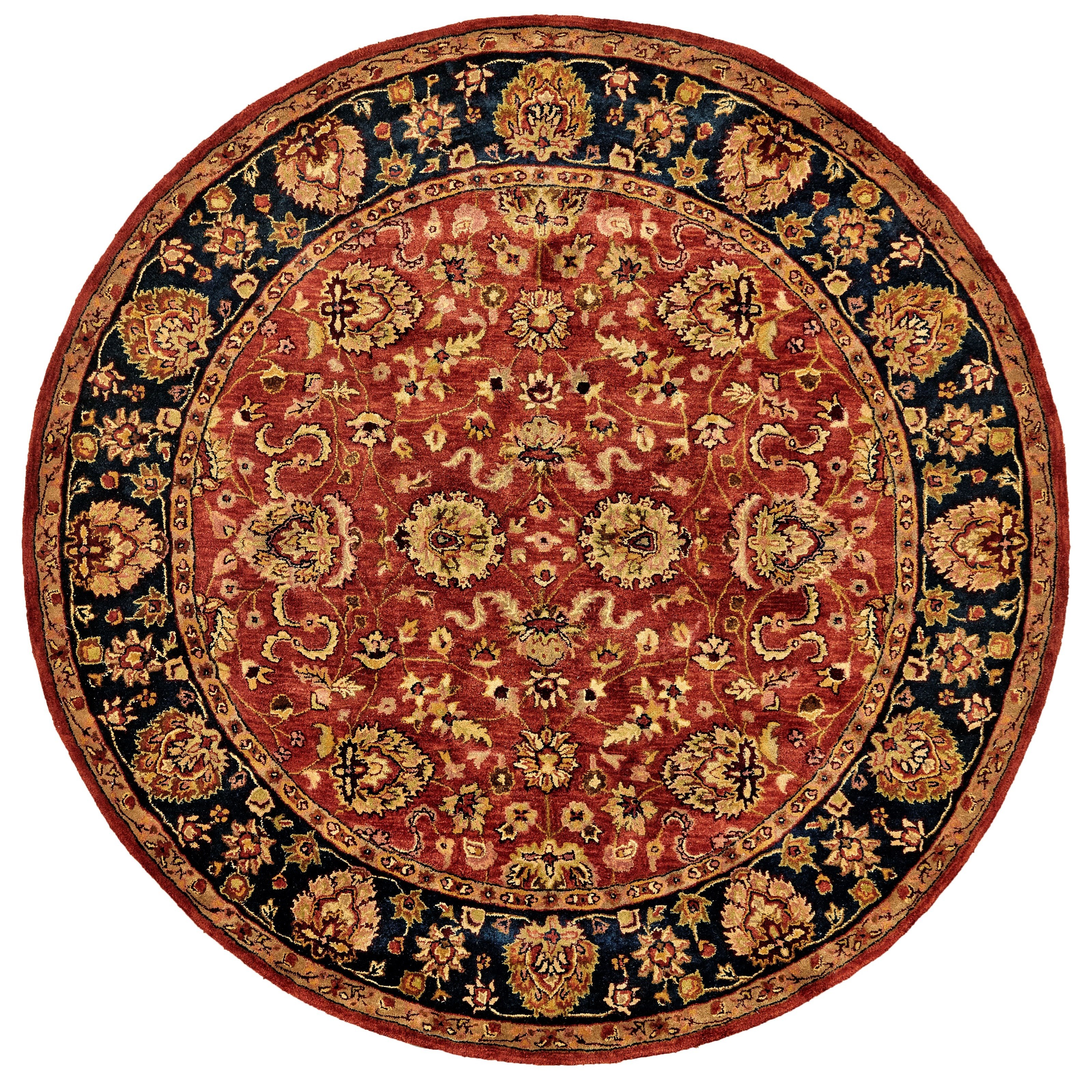 Alexandra Red/Navy 8' x 8' Round Area Rug by Feizy Rugs at Sprintz Furniture