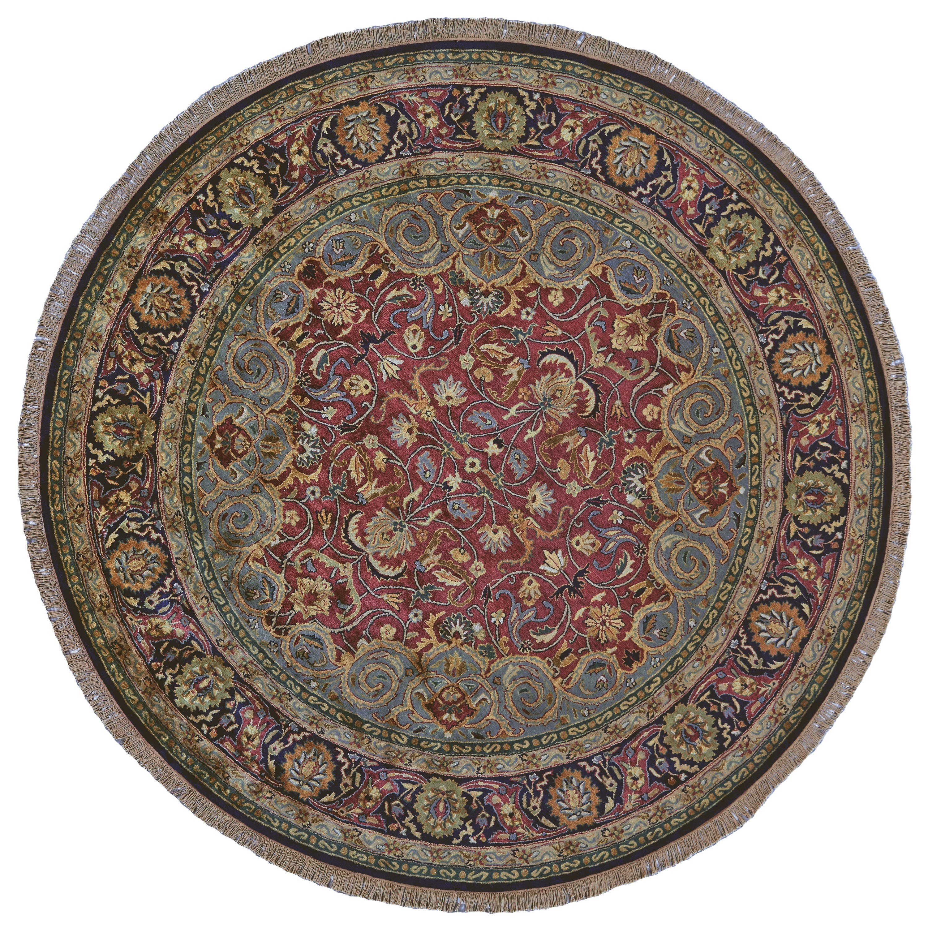 Amore Plum 8' x 8' Round Area Rug by Feizy Rugs at Sprintz Furniture