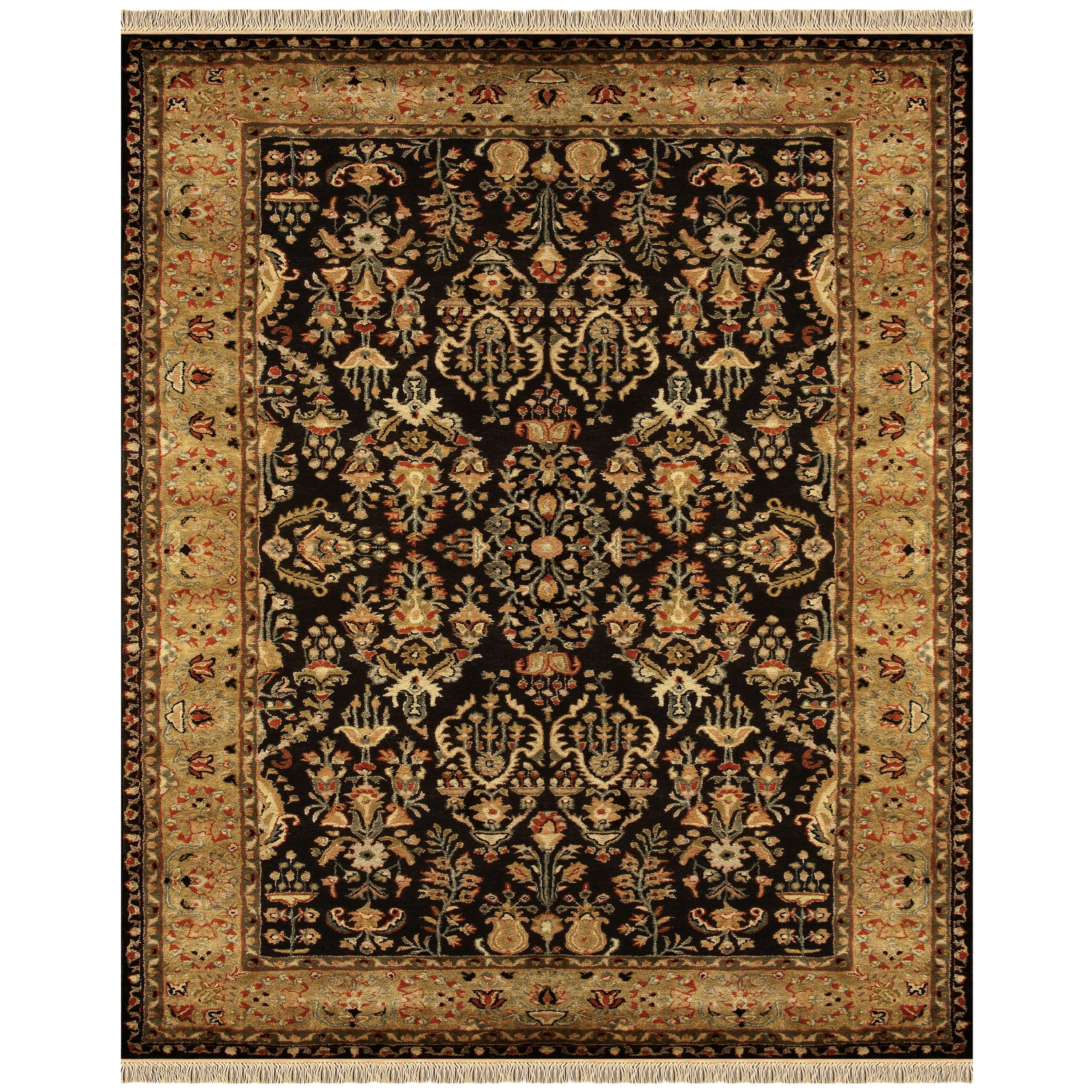 """Amore Black/Gold 9'-6"""" x 13'-6"""" Area Rug by Feizy Rugs at Sprintz Furniture"""