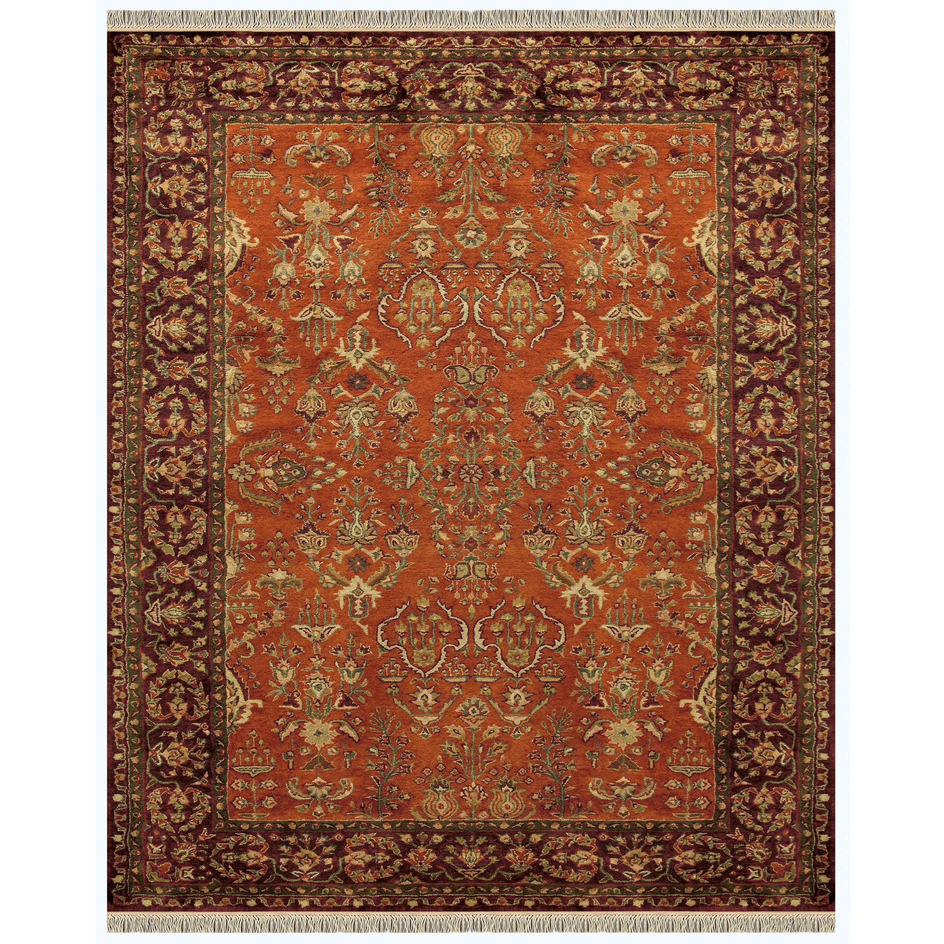 """Amore Cinnamon/Plum 3'-6"""" x 5'-6"""" Area Rug by Feizy Rugs at Sprintz Furniture"""