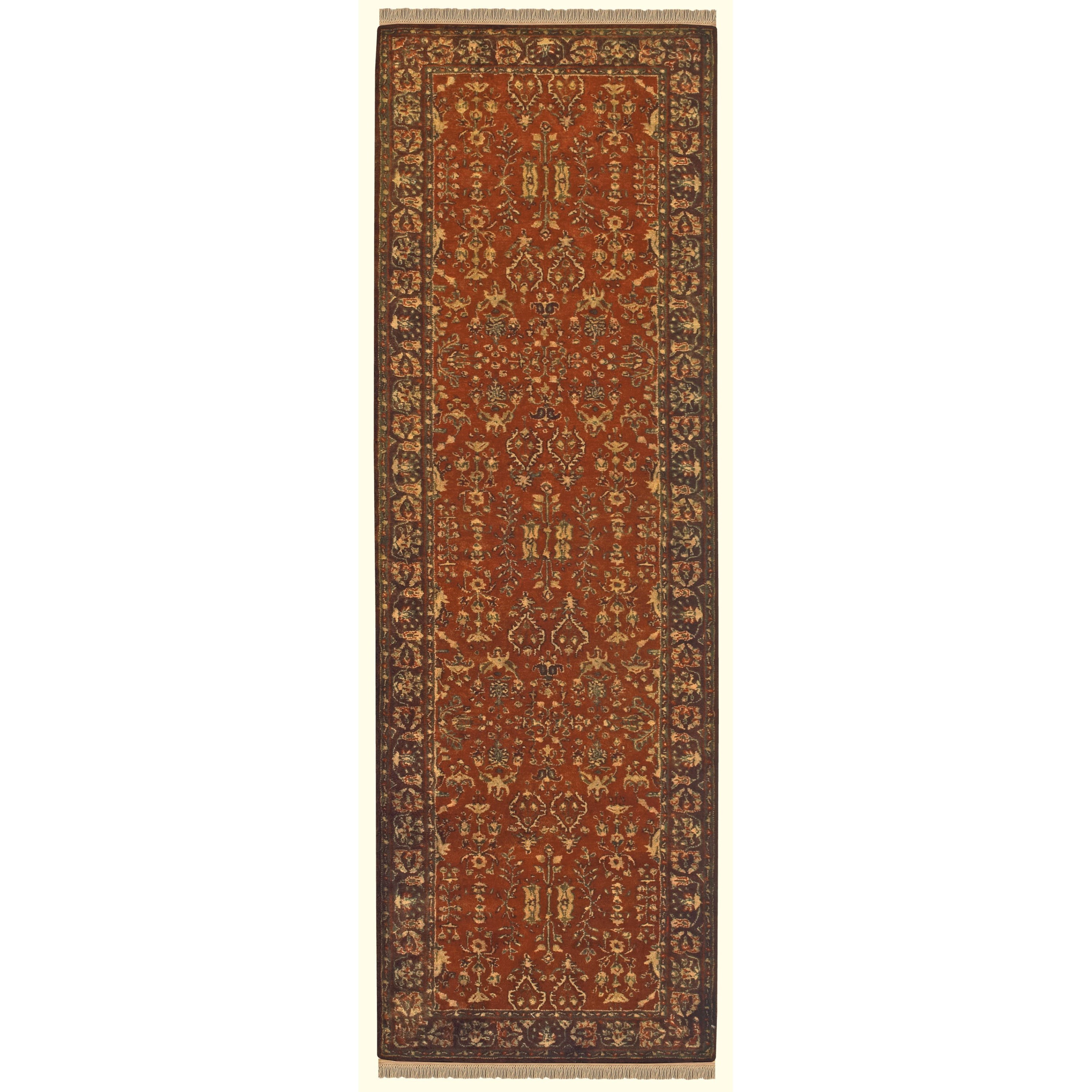 "Amore Cinnamon/Plum 2'-3"" x 8' Runner Rug by Feizy Rugs at Sprintz Furniture"