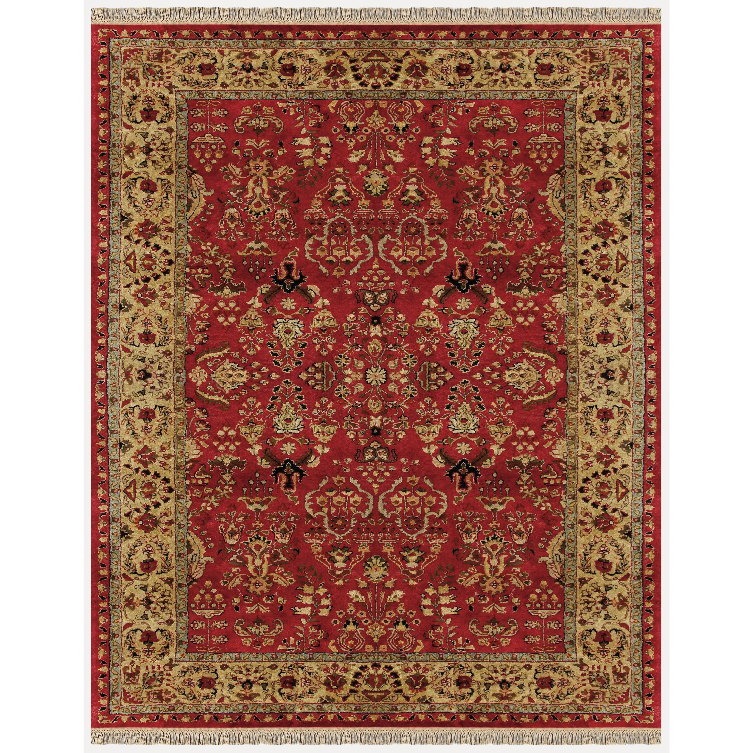 "Red/Light Gold 9'-6"" x 13'-6"" Area Rug"