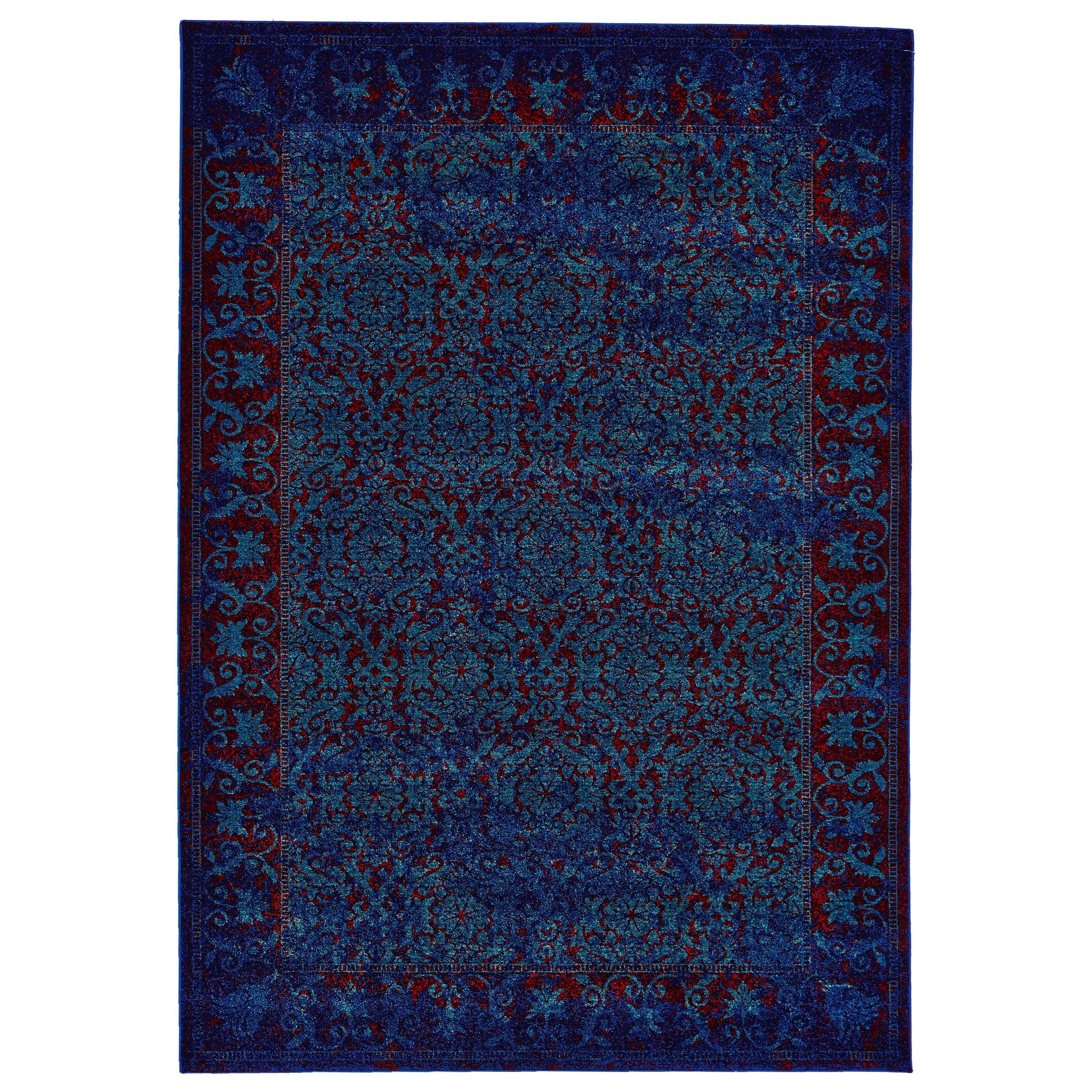 Archean Azure 5' x 8' Area Rug by Feizy Rugs at Sprintz Furniture