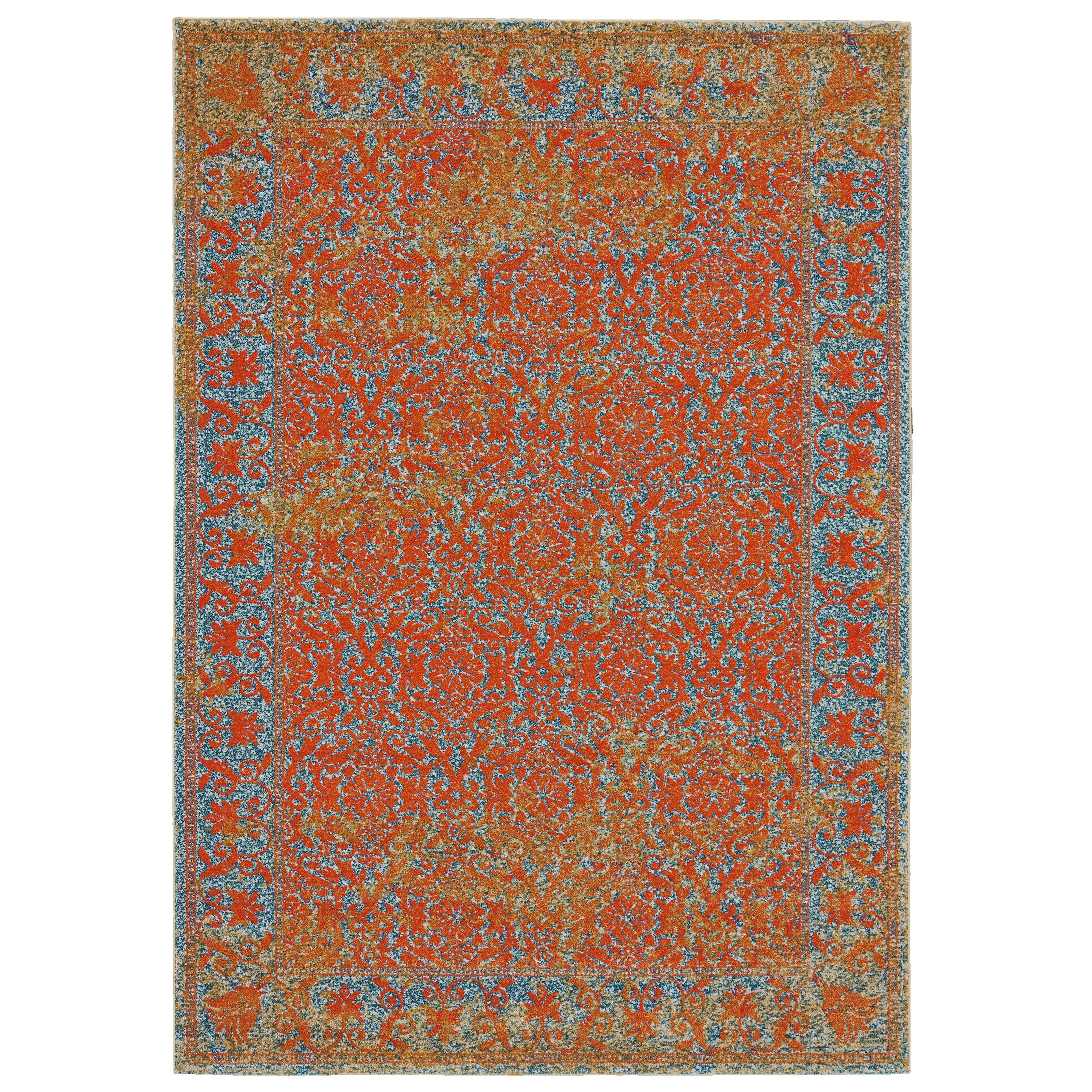 Archean Cantaloupe 8' X 11' Area Rug by Feizy Rugs at Sprintz Furniture