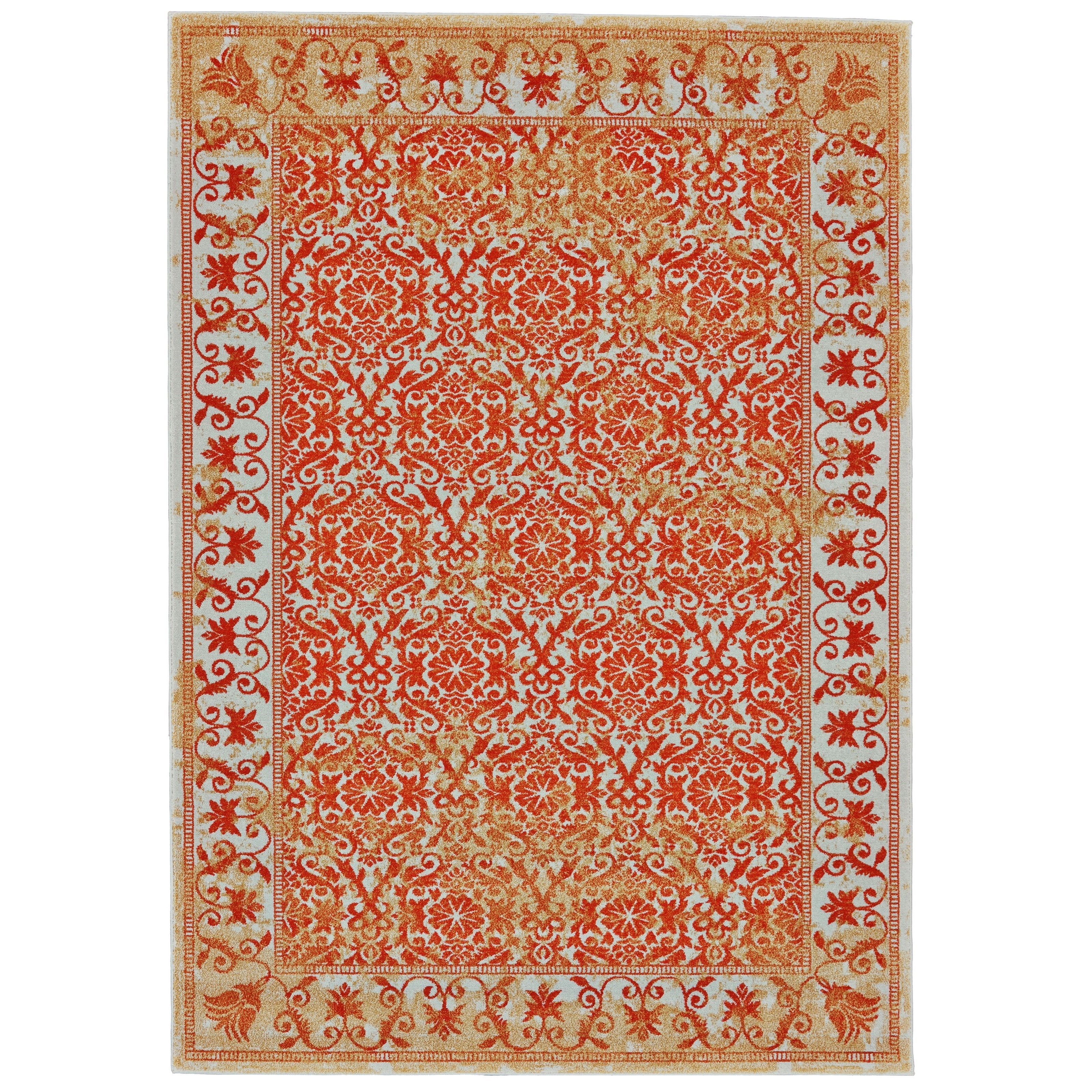 Archean Melon 5' x 8' Area Rug by Feizy Rugs at Sprintz Furniture